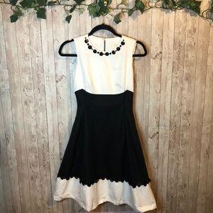 Kate Spade Fit & Flair Black& White Sequin Dress